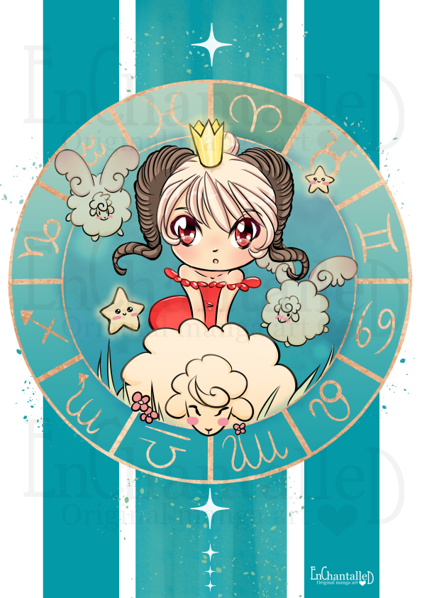 Chibi Zodiak Aries_art print_preview_EnChantalled