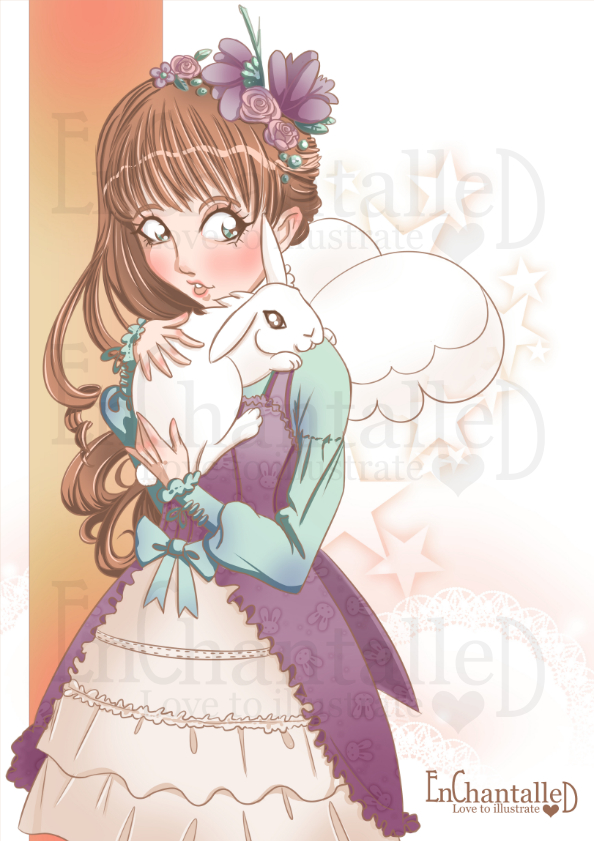 Art print A4_My Bunny_EnChantalled_preview
