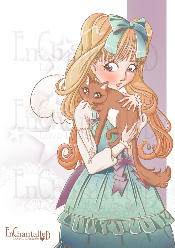 Art print A4_My Cat_EnChantalled_preview