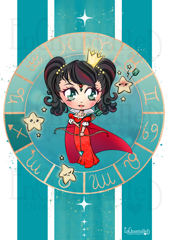Chibi Zodiak Boogschutter_art print_preview_EnChantalled
