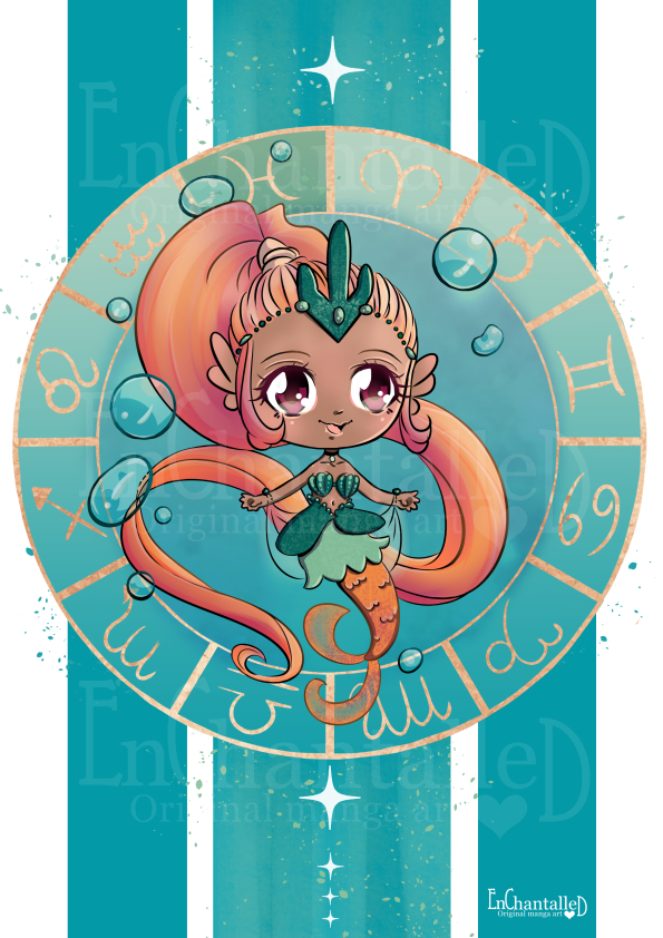 Chibi Zodiak Pisces_art print_preview_EnChantalled