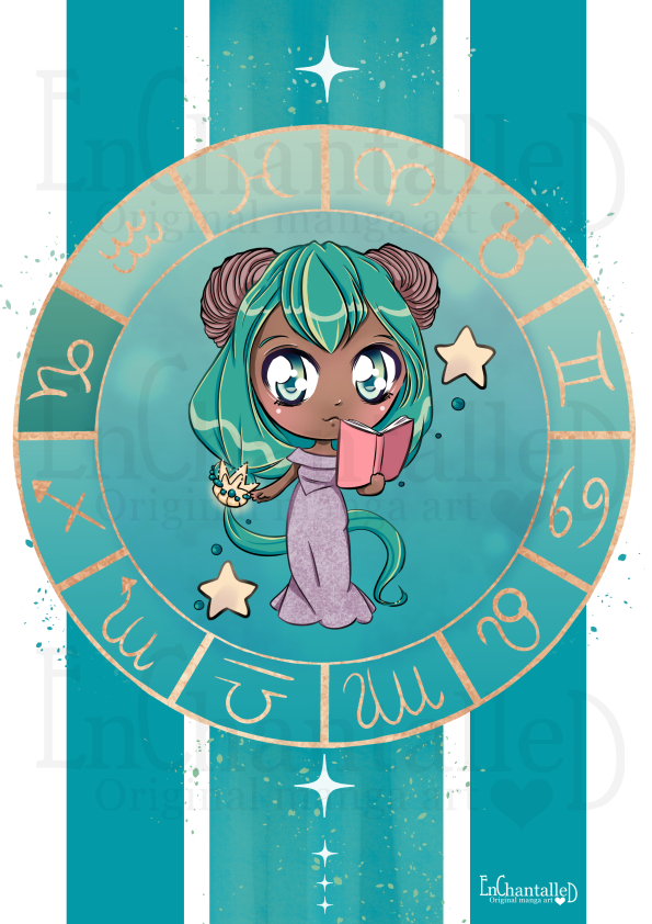 Chibi Zodiak Steenbok_art print_preview_EnChantalled